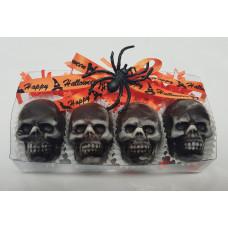 Skulls Filled w/Sea salt Caramel (Box of 4)