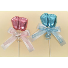 Baby feet/foiled lolly (one)