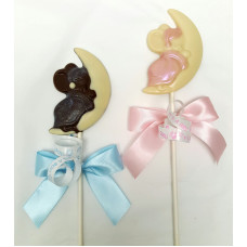 Toy mouse on moon lolly (one)