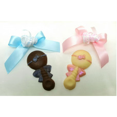 Chocolate Rattle (one)