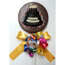 Chocolate circle with cake lolly