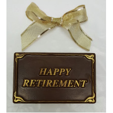 "Small ""Happy Retirement"" Chocolate Bar"