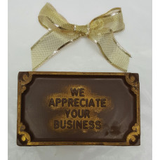 """We Appreciate Your Business"" Bar (Small)"