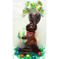 Rabbit Holding Egg  3-D (Large)