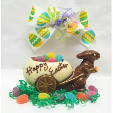 Bunny w/Egg Wheelbarrow 3-D