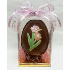 Egg w/embossed Lilacs (Large)