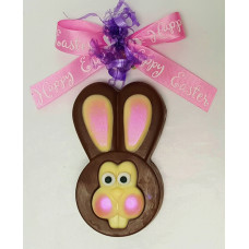 Bunny Head Sandwich Cookies Dipped in Chocolate