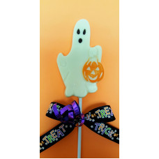 Ghost with pumpkin lolly