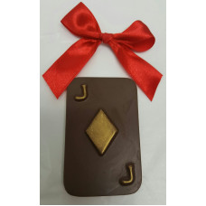 "Chocolate Poker card ""J"""