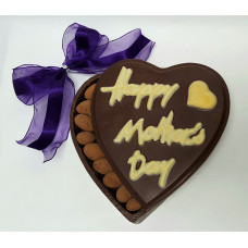 "Heart Shape Box ""Happy Mother's Day"" Embossed (Medium)"