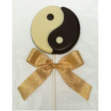 "Chocolate ""Ying Yang"" Medallion"