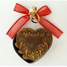 Heart-Shaped Box w/Design on Lid