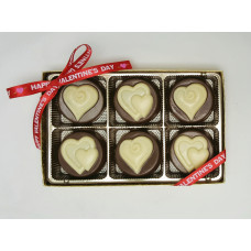 Medallions w/Embossed Hearts (Caramel)