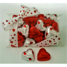 "Hand-made chocolate hearts in ""Pillow Box"""