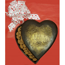 "Heart Box  with embossed ""Love"" message on Lid (X-Large)"