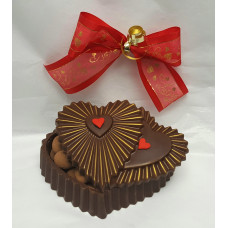 Double Hearts Lid Chocolate Box