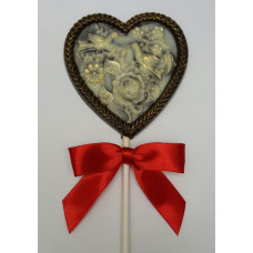 Heart with Doves Lolly