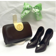 Chocolate Purse & Large High-heels Fashion Model!