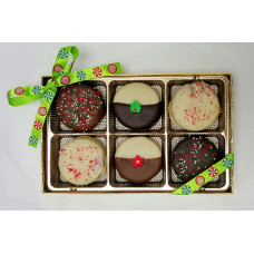 Sandwich Cookies Dipped in Chocolate (Box of 6)