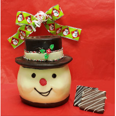 Snowman Head Cookie Jar