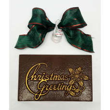 Christmas Greeting Chocolate Bar