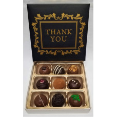 "Box of 9 Truffles ""Thank you"""