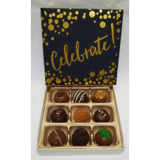 "Box of 9 Truffles ""Celebrate"""