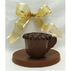 Chocolate Demitasse Cup & Saucer