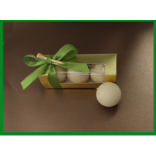 Chocolate golf balls (3) in gold color box