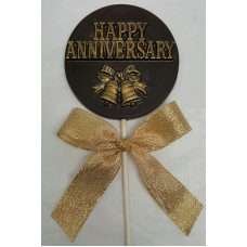 "Chocolate Medallion ""Happy Anniversary"" lolly"