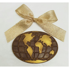 Chocolate Oval World Map