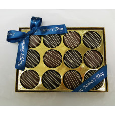 Sandwich Cookies Dipped in Chocolate (Box of 12)