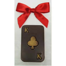"Chocolate Poker card ""K"""