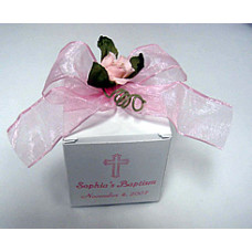Personalized Baptism Cube Box