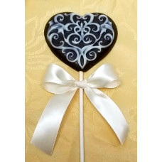 Embossed Heart Lolly
