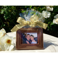 "Chocolate Frame w/ Edible Photo (Favor Size) ""A"""